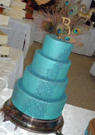 Peacock Wedding Cakes
